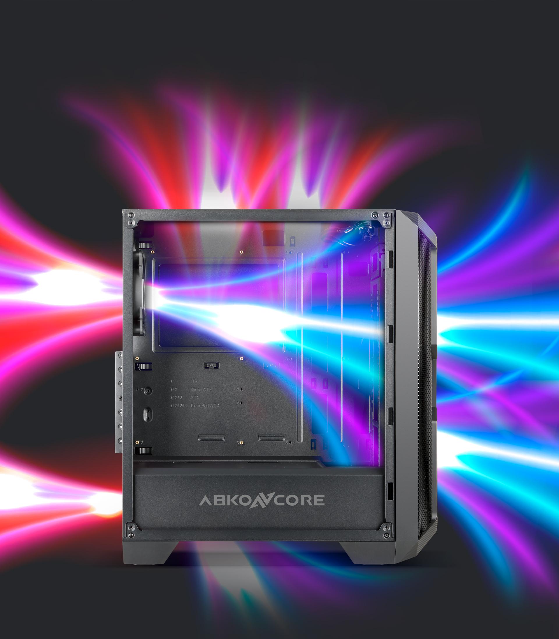 Caja semitorre Helios 600A Sync Description cooling
