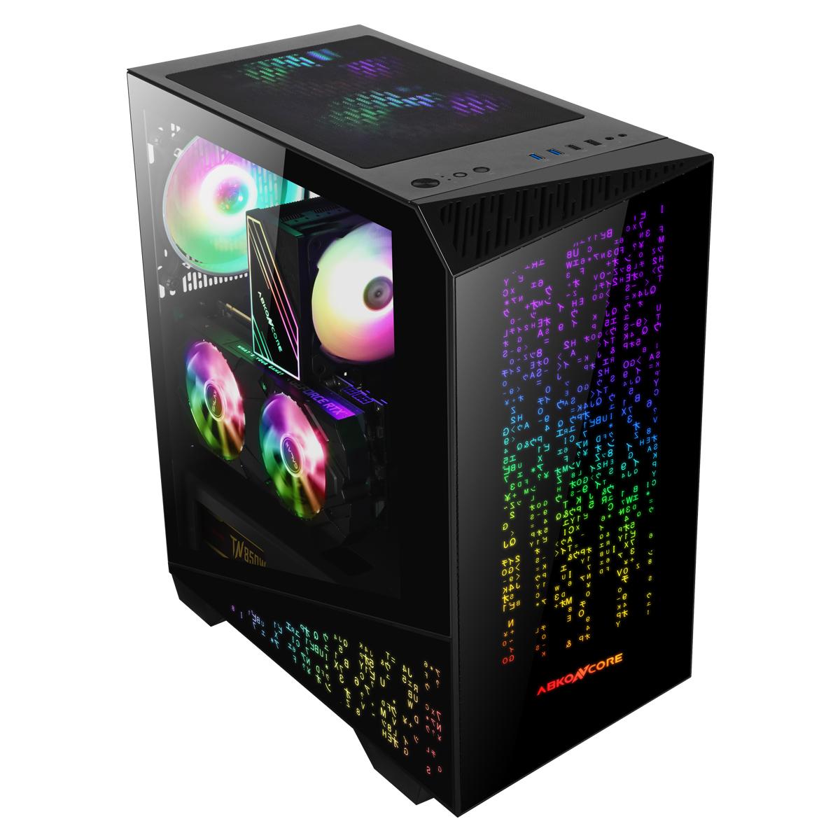 Caja de torre grande Tengri 750G V2 Cristal templado