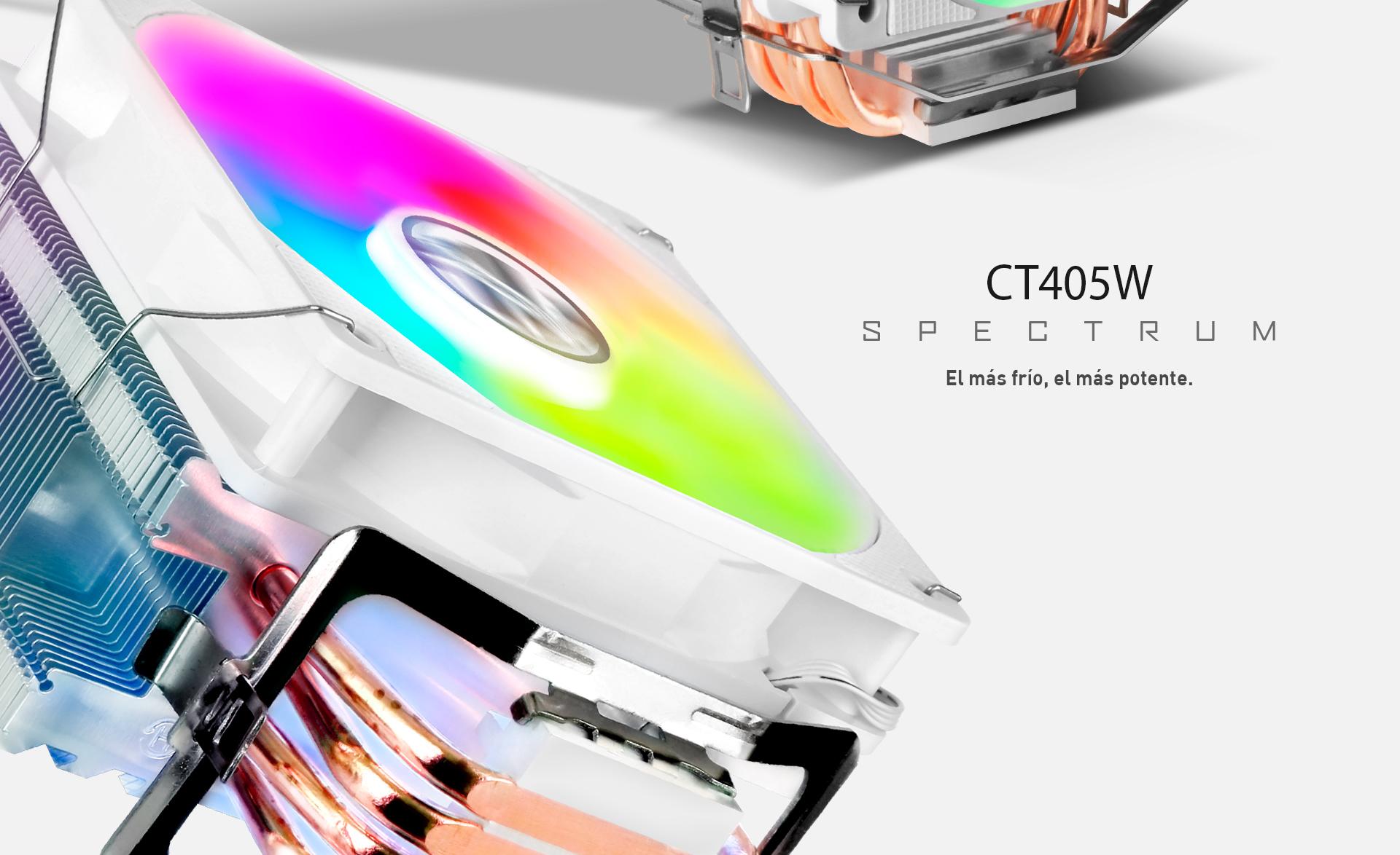 CPU Cooler T405 en color blanco descripción