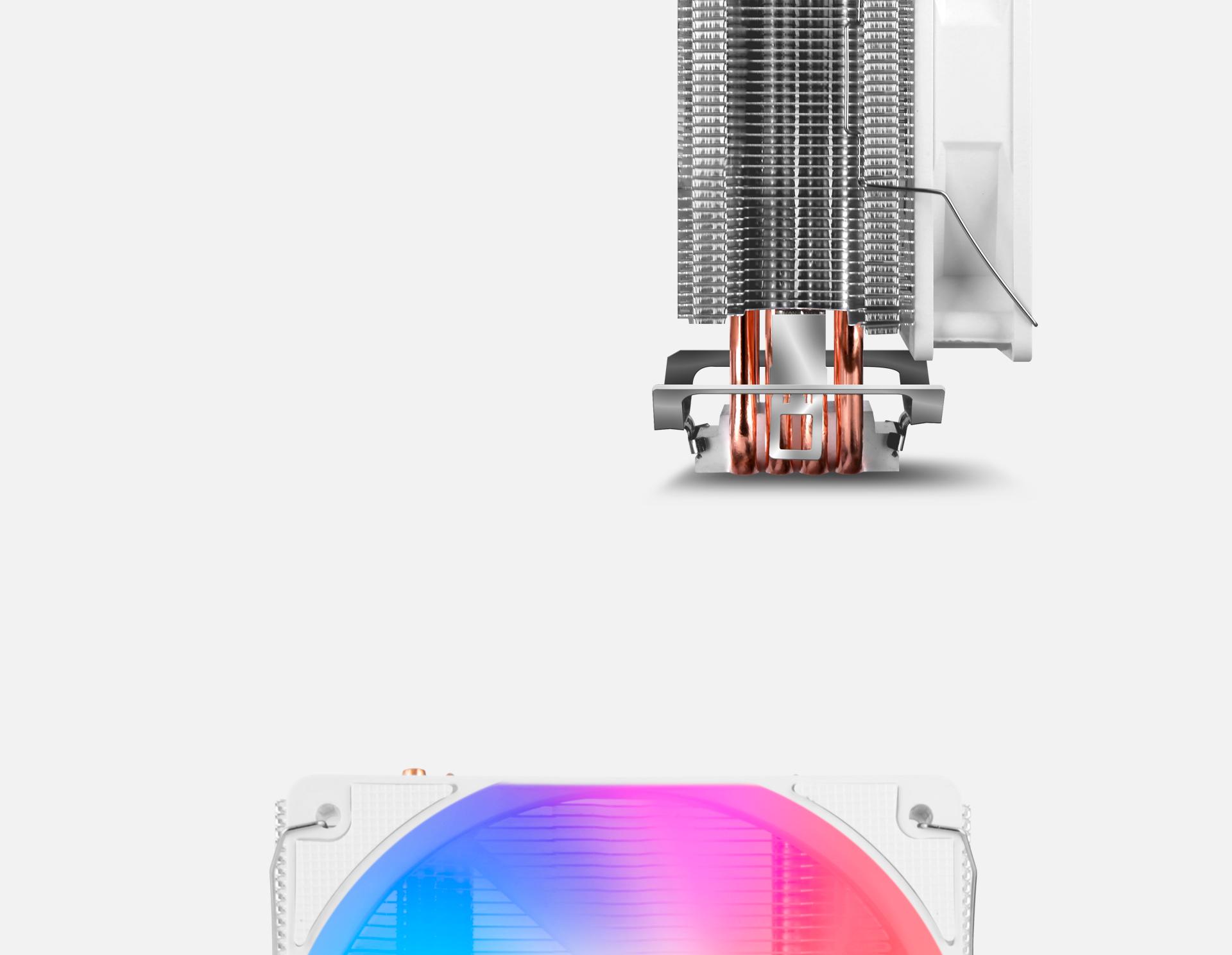 CPU Cooler T405 en color blanco descripción control led