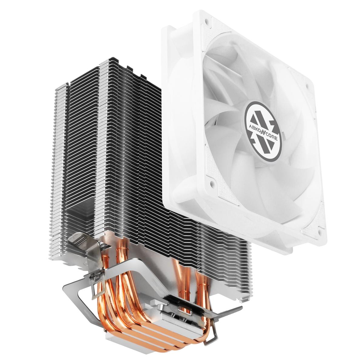 CPU Cooler T405 en color blanco componentes