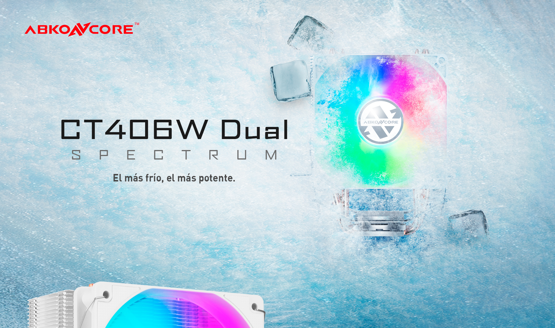 CPU Cooler T406 W doble descripción poster