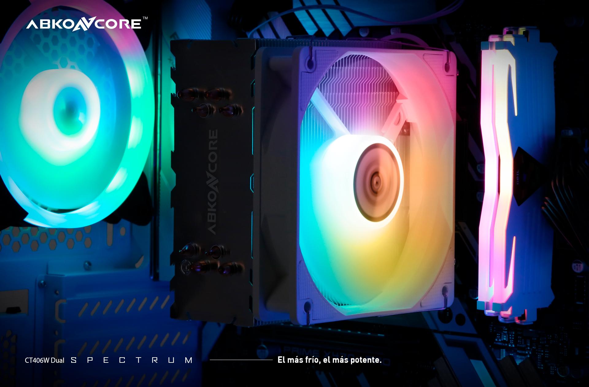 CPU Cooler T406 W doble descripción