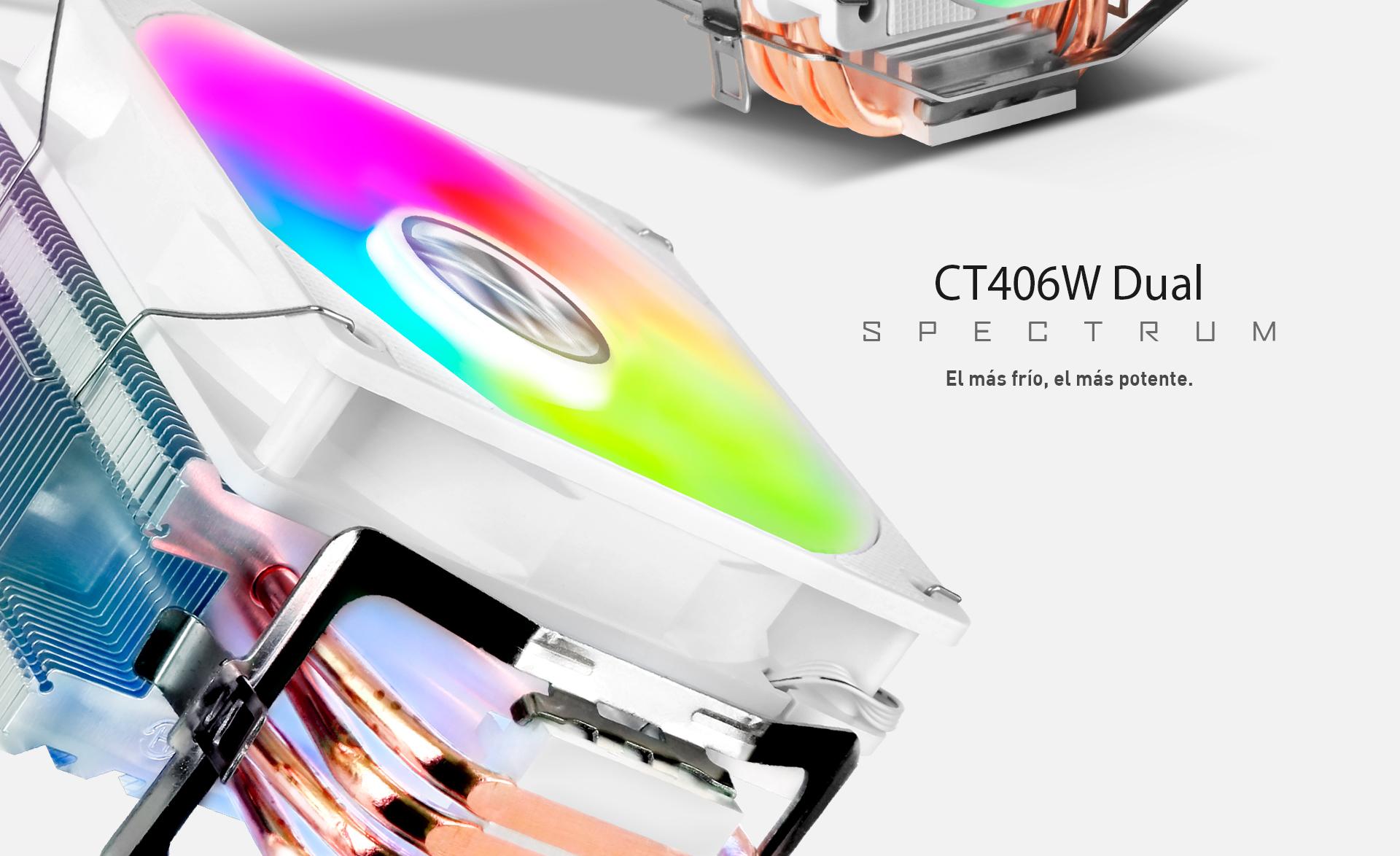 CPU Cooler T406 W doble descripción colores