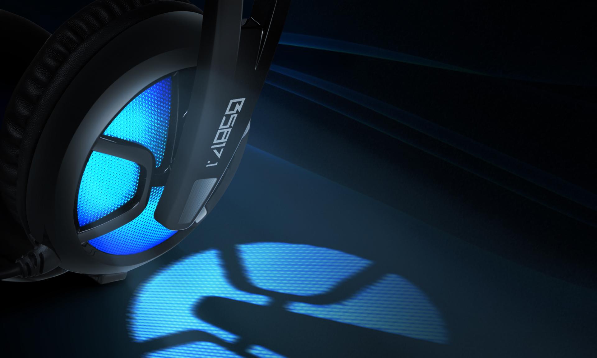 Auriculares B581 Virtual 7.1 Imagen descripción led azul