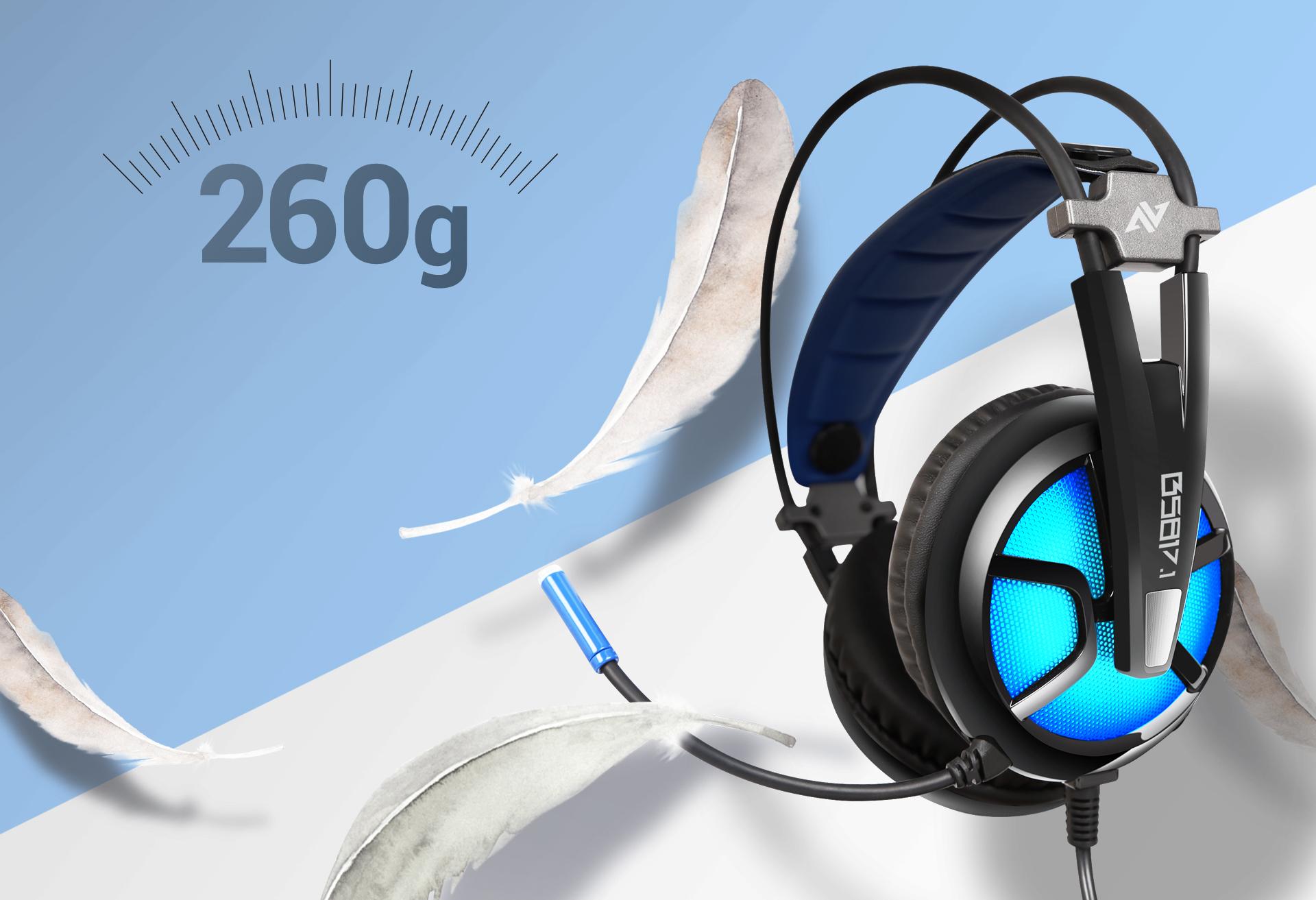 Auriculares B581 Virtual 7.1 Imagen descripción peso ligero