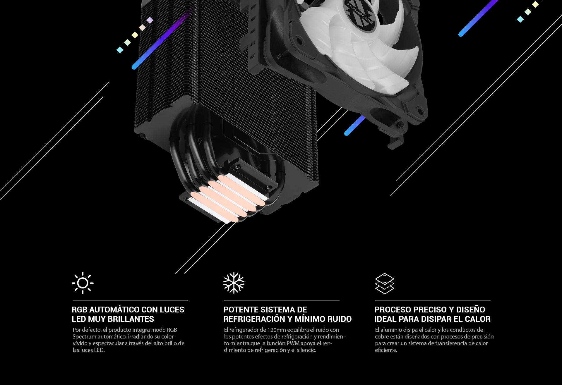 CPU Cooler T408B Black imagen descripción