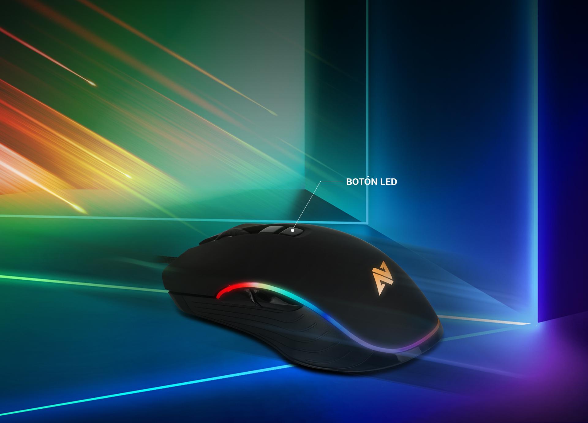 Ratón Gaming Astra AM6 imagen descripción colores led