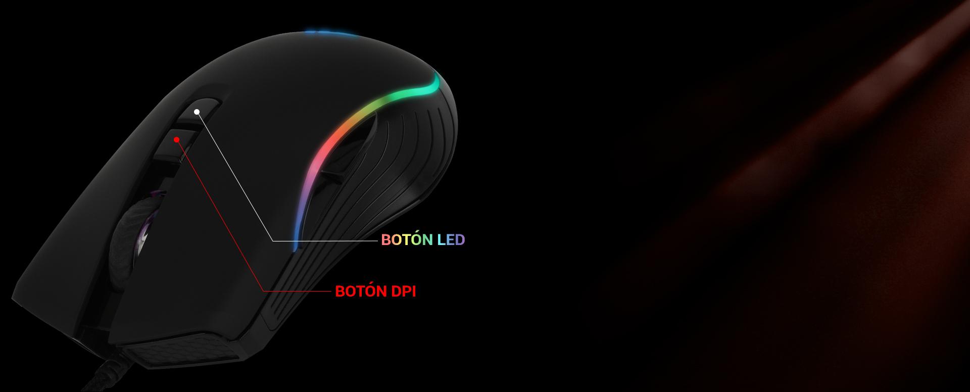 Ratón Gaming Astra AM6 imagen descripción ajuste de sensibilidad