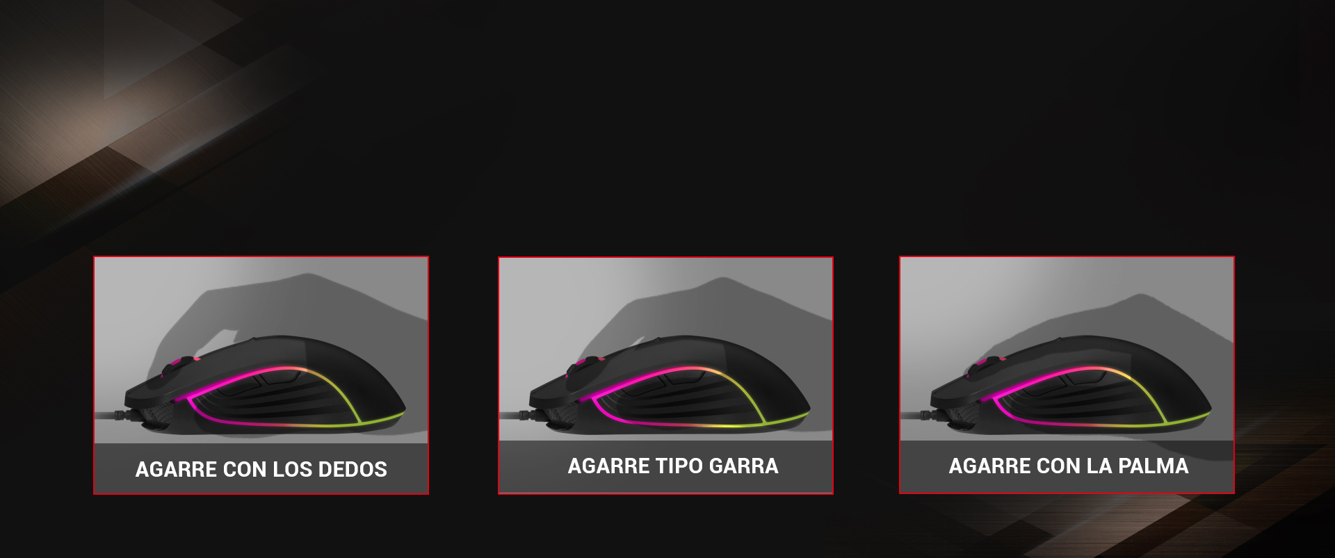 Ratón Gaming Astra M30 imagen descripción agarre