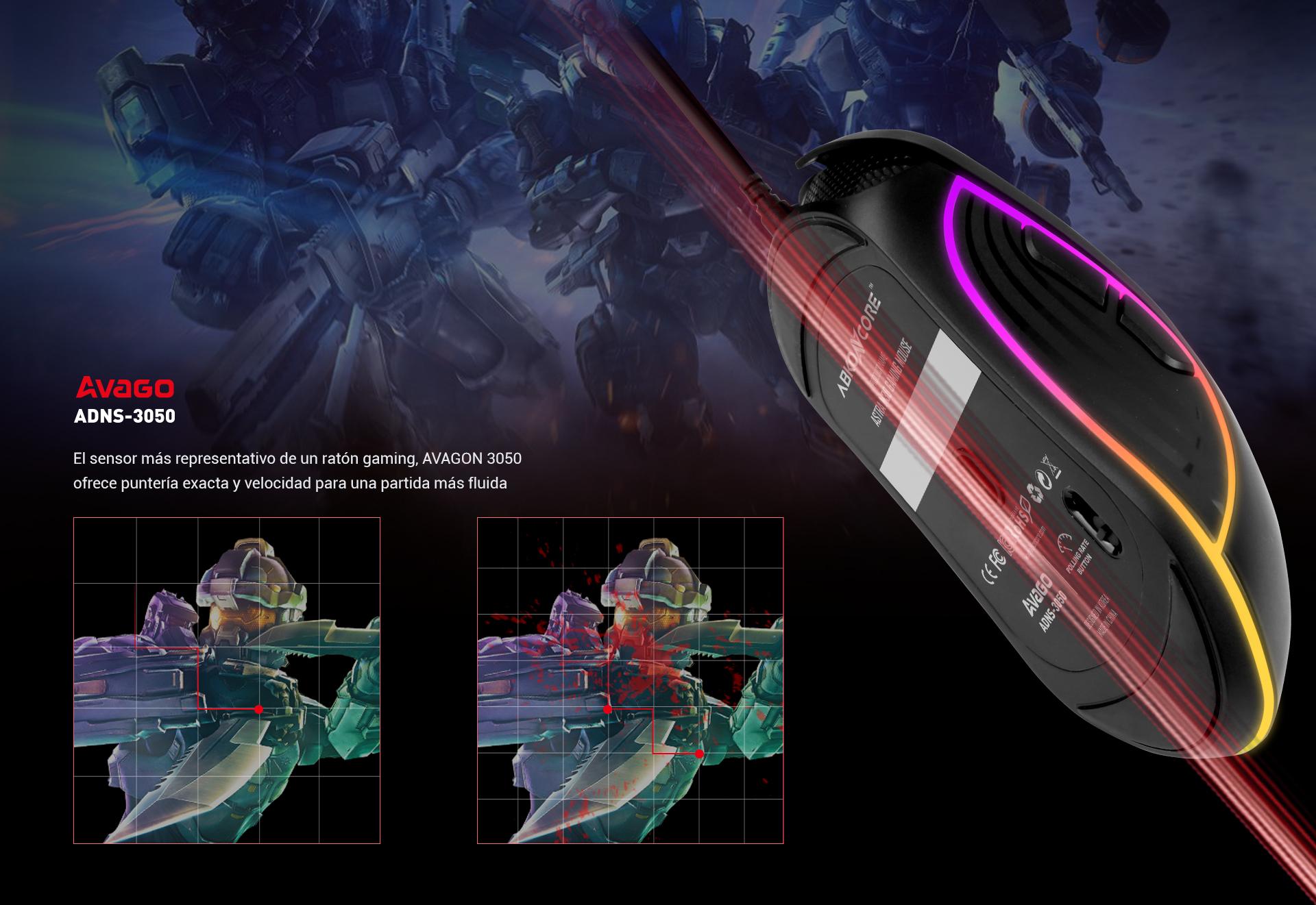 Ratón Gaming Astra M30 imagen descripción sensor incorporado
