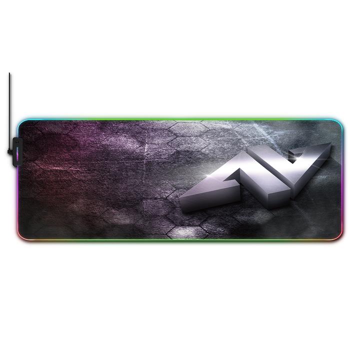 Alfombrilla para ratón gaming con espectro RGB imagen principal del producto